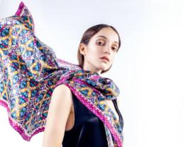 Foulard Teffy - Anastasia Buchinskaya - made in italy - Maria Laura Berlinguer Stile Italiano - Fatto in Italia - moda donna - fashion - glamour - shopping - blog