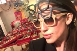 Occhiali Patty Paillette eyewear - maria laura berlinguer stile italiano made in italy fatto in italia - moda donna - accessorio - fashion - design - suggerimenti