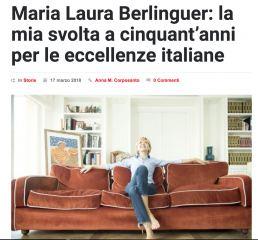 Dicono di me - Maria Laura Berlinguer Stile Italiano - Mestieri ad arte