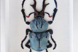 Les Coleopteres Maurizio Minerva - coleotteri in ceramica - made in italy - maria laura berlinguer stile italiano - fatto in italia - design - artigianato