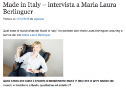 dicono di me - habitissimo - maria laura berlinguer stile italiano - made in italy - fatto in italia - artigianato italiano