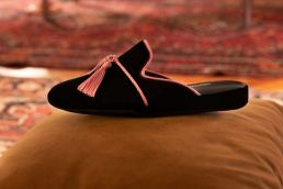 Hoomie pantofole maria laura berlinguer stile italiano made in italy artigianato italiano moda donna Stefano Lubinski e Alessandro Fidanzia